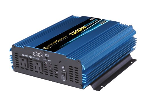 Power Bright PW1500-12 Power Inverter 1500 Watt 12 Volt DC T