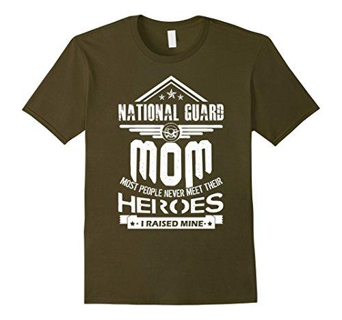 Mens National Guard Mom I Raise Mine Shirts XL Olive Mens National Guard