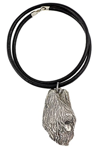 - Briard (Long Head), Silver Hallmark 925, Dog Silver Necklaces, Limited Edition, Artdog