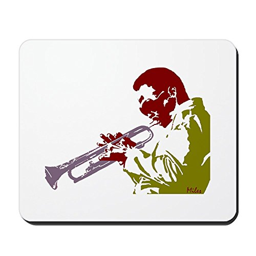 Bass Pop Trumpet - CafePress - Miles - Non-slip Rubber Mousepad, Gaming Mouse Pad