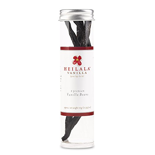 Heilala Vanilla 2 Vanilla Beans in a Tube, Bourbon Premium Raw Organically Farmed, Fair Trade Vanilla Beans From Tonga, Award Winning, Gluten Free, Kosher Certified