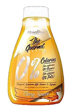 Menú Fitness - Salsa The Gourmet 0% - 425ML (Curry Sauce): Amazon.es: Salud y cuidado personal