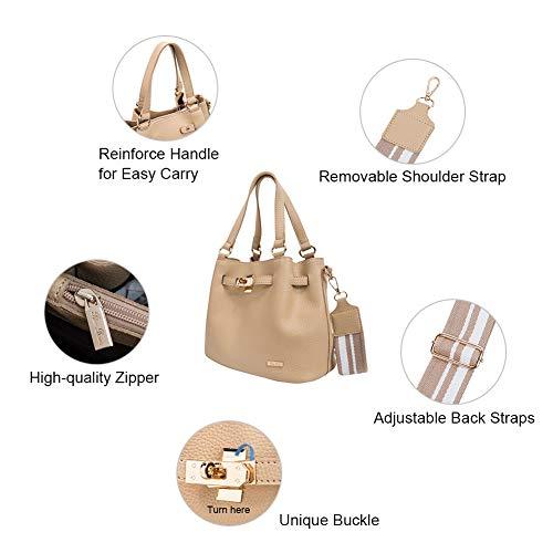 RenDian Women Casual Top Handle Satchel Shoulder Bag Tote Purse Handbags for Travel/Leisure/Dating by RenDian (Image #4)
