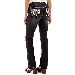 WallFlower Juniors Luscious Curvy Bling Bootcut Jeans in Kaylee, 5