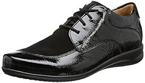 Zapatos Cordones Para Negro De Ganter Fiona Mujer 7qT5Px81n