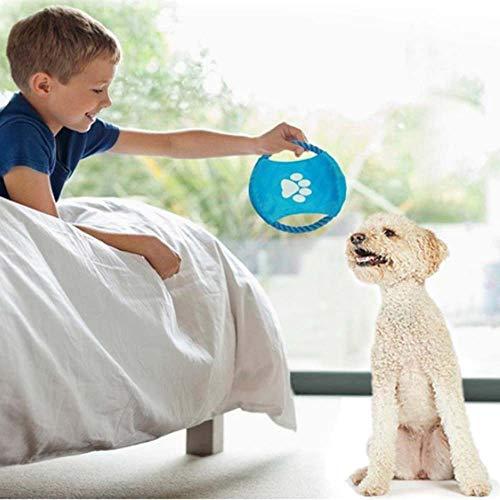 Frisbee per cani, frisbee per cani, frisbee per cani morbidi e piccoli, frisbee giocattolo per cani che giocano, frisbee per cani volanti con frisbee in tela di cotone