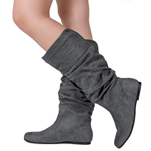 dc68117eb1d3 RF ROOM OF FASHION Women's Slouchy Knee High Hidden Pocket Boots (Medium  and Wide Calf) - Buy Online in Oman.   Shoes Products in Oman - See Prices,  ...
