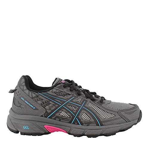 ASICS Womens Venture 6 Running Sneaker, Black/Island Blue/Pink, Size 12 by ASICS