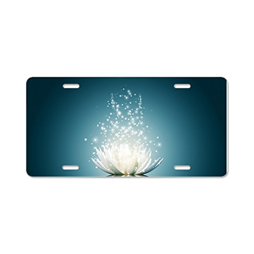 CafePress – White Lotus Magic – Aluminum License Plate, Front License Plate, Vanity Tag – Go4CarZ Store