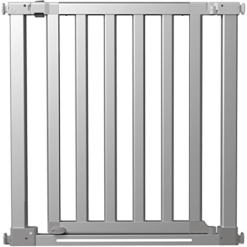 Munchkin Luna Baby Gate with LED Light, Silver (With Baby Gate Door Munchkin)