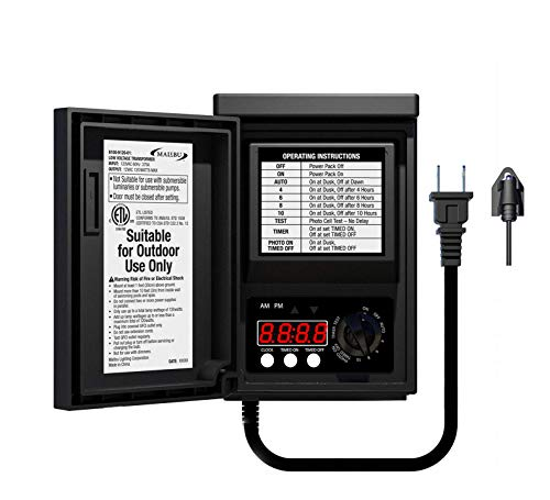 Malibu 120 Watt Power Pack with Sensor and Weather Shield for Low Voltage Landscape Lighting Spotlight Outdoor…