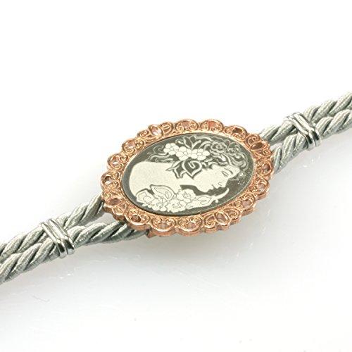 MIA ISA FRANCE - Bijoux - Femme - Bracelet la dame de Camélia en argent 925 1000 rhodié rose UOXR