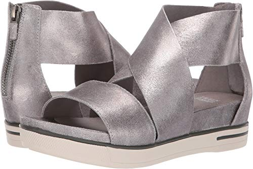 Eileen Fisher Women's Sport Silver Frozen Metallic Suede 10 B - Metallic Platforms Suede