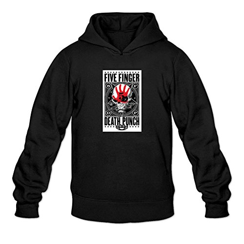 RONGBANG RONGBANG Men's Five Finger Death Punch Band Logo Hooded Sweatshirt Size L ColorName