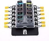 amazon com 10 way blade fuse block for car truck boat rv led rh amazon com