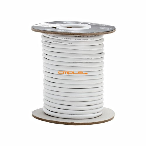 Cmple - 12AWG CL2 Rated 2-Conductor Speaker Cable - 100ft For In-Wall (Conduit Marker Cards)