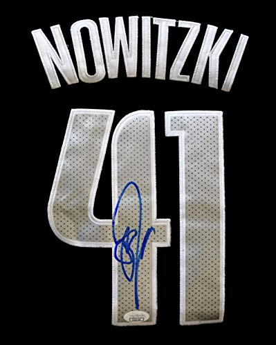 6b0dba5ac7e3 Dirk Nowitzki Dallas Mavericks Signed Autographed Dark Blue  41 Jersey JSA  COA