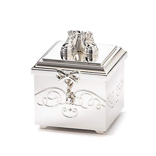 DEMDACO Birthstone Charm Keepsake Box, April