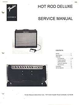 fender hot rod deluxe amplifier service manual repair guide fender rh amazon com fender hot rod deluxe manuale fender hot rod deluxe iii manual