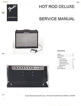 fender hot rod deluxe amplifier service manual repair guide fender rh amazon com fender hot rod deluxe tube amp review fender hot rod deluxe iii user manual