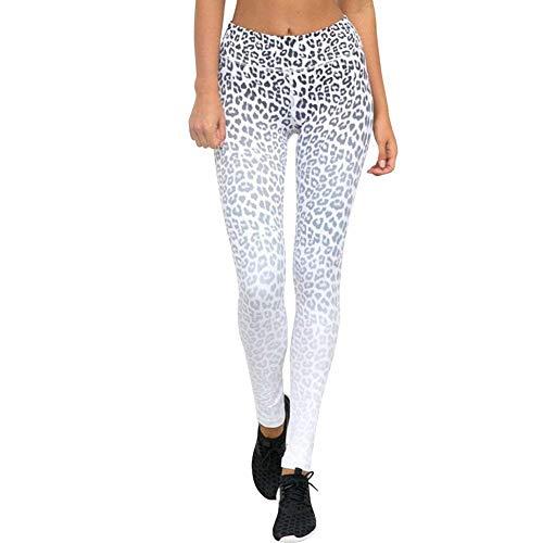 Basic Alta Leggings Fit Slim Leopardo Impreso Hx Ropa Blanco Para Cintura Estiramiento Entrenamiento De Mujer Fashion Moda Yoga Pantalones PwOpq5Avx
