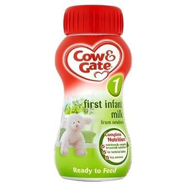 Cow & Gate Primera Infantil La leche de recién nacido - 6 x 200ml ...