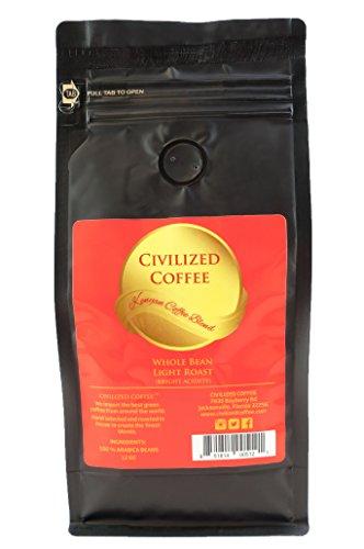 CIVILIZED COFFEE- African Kenyan AA Blend, Light Blonde Roast, Whole Bean, Arabica Coffee