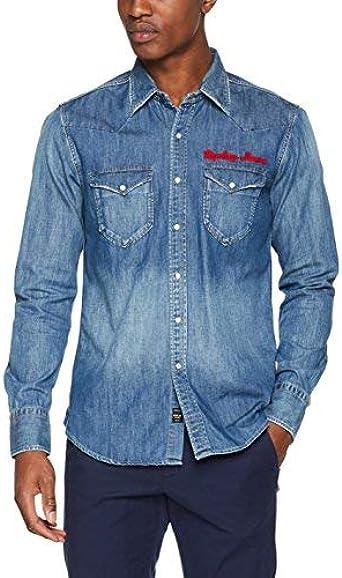 REPLAY M4981 .000.26c 290 Camisa Vaquera, Azul (Blue Denim 9 ...