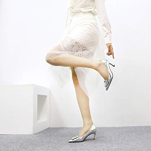 Dcyu Dimensioni Metallico C Sandali Alto A Da Spillo 40 B Eu Con Donna Tacco colore r4qnBrU