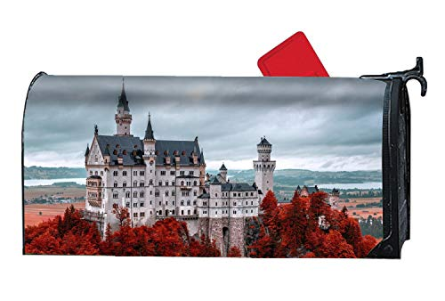 XPNiao Magnetic Garden Yard Mailbox Cover Tourism Travel Red Castle by XPNiao