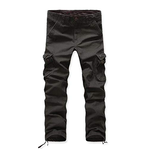 Allywit Men's Assault Tactical Pants Lightweight Cotton Outdoor Military Combat Cargo Trousers Big and Tall Dark Army Green by Allywit-Pants (Image #1)