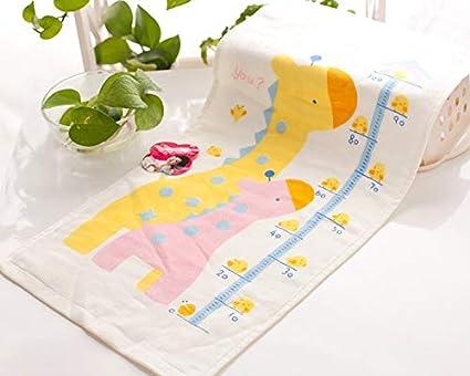 LybMaoJ Toalla algodón algodón Impreso Gasa Absorbente toallitas bucales, Modelos de Jirafa, 34 *