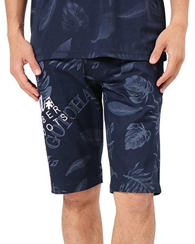 (ガッチャ ゴルフ) GOTCHA GOLF ショーツ 総柄 ボタニカル パンツ 182GG1900 ネイビー Sサイズ