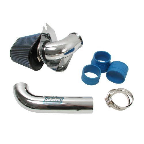 BBK 1557 Cold Air Intake System - Power Plus Series Performance Kit For Ford Mustang 5.0L - Fenderwell Style -  Chrome Finish