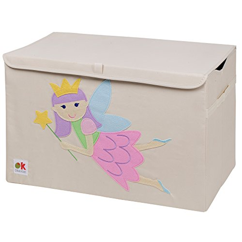 Storage Up Pop Chest (Wildkin Olive Kids Toy Chest, Perfect for Playroom Organization, Measures 24 x 15 x 14 Inches, Coordinates with Other Room Décor – Fairy Princess)