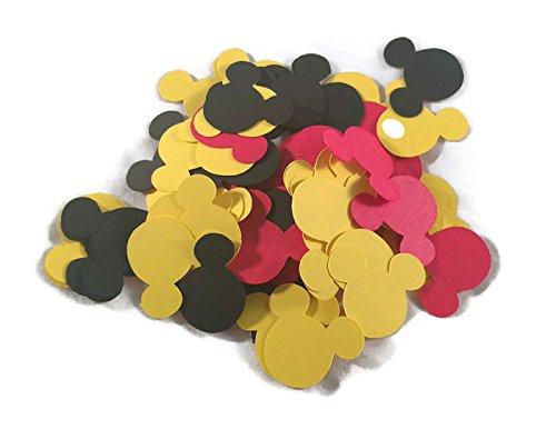 Die Cuts - Disney Mickey Mouse Confetti - Red/Black/Yellow - 100pcs (Scrapbooking Confetti)