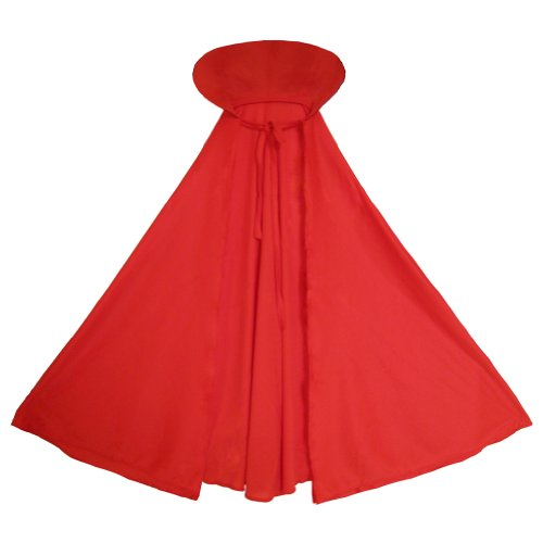 SeasonsTrading Child Red Cape with Collar ~ Halloween Kids Red Cape -