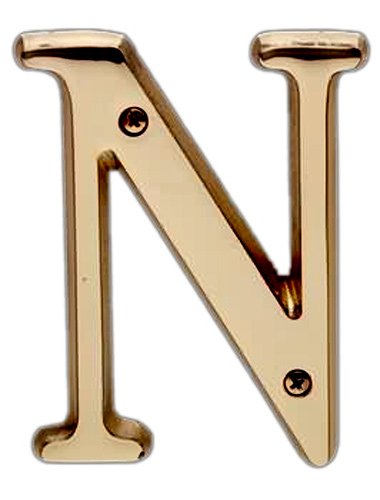 Traditional Solid Polished Brass Letter B