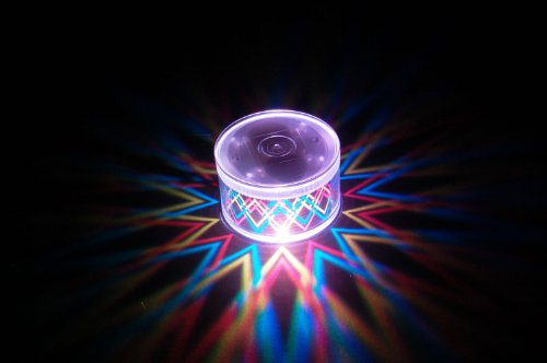 Set of 2 LiteRays LED Light Up Projection LitePod Table Center Piece/Drink Accessory- (Lighted Beverage Set)