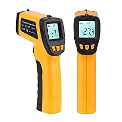 Infrared Thermometer,V-Resourcing Non-Contact Laser Digital Temperature Gun, LCD Display with Backlight Infrared Thermometer for Laboratory,Kitchen,Factory Industry Use