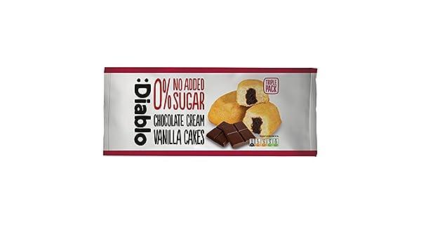 Bizcochos de Vainilla Rellenos de Crema de Chocolate sin Azúcar ...