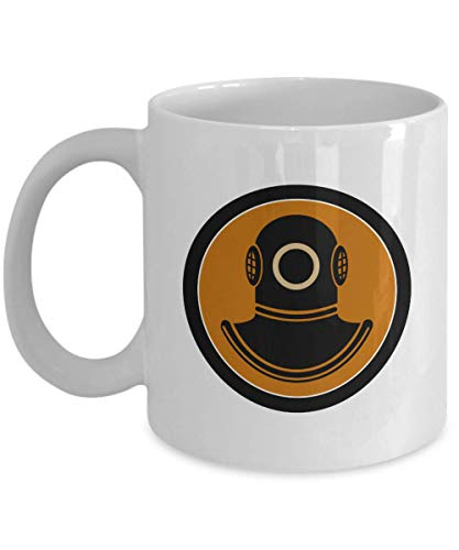 - Vintage Diver Graphic Deep Sea Scuba Diving Helmet Coffee & Tea Gift Mug, Accessories, Decorations, Supplies & Cool Gifts For Scuba-diving Enthusiast, Dive Instructor & Master Divers (15oz)