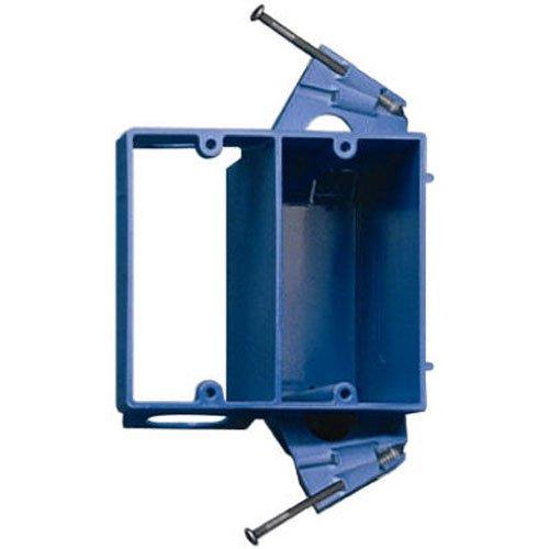 Carlon SC200DV Dual Voltage Outlet Box/Bracket, 2 Gang, 4.04-Inch Length by 3.69-Inch Width by 3.67-Inch Depth, Blue Thomas & Betts