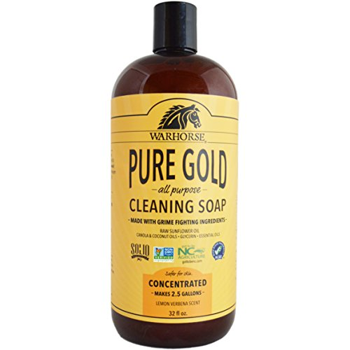 Natural Gold Pure Naturals - Warhorse Pure Gold All-Purpose Cleaner - Natural Ingredients for Deep Cleaning and Everyday Use - Lemon Verbena, 32 Ounce