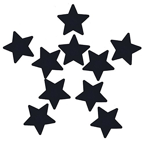 Ypser Multi Colors Nipple Cover Satin Pasties Disposable Adhesive Breast Petals(5 Pairs Star Black)
