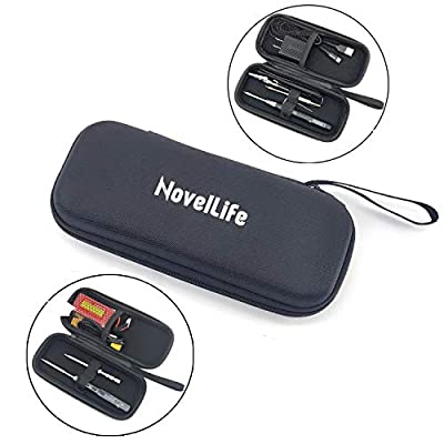 NovelLife TS100 TS80 Soldering Iron Portable Carry Case,EVA Small Zipper Tool Pouch Organizer Bag,Single Layer,2 Elastic Loop Strap