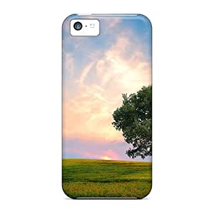 First-class Case Cover For Iphone 5c Dual Protection Cover Fresh Nature