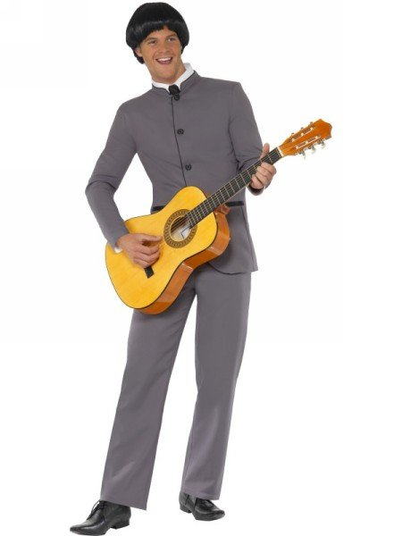 [Smiffy's Men's Fab Four Iconic Costume, Jacket and pants, 60's Groovy Baby, Serious Fun, Size L,] (Singer Fancy Dress Costumes)