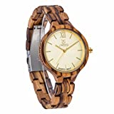 Morrivoe Luxury Wooden Watch For Women Japanese Movement Lightweight Vintage Wooden Watch