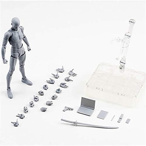 MiaoDuo Body Kun DX Set Male & Female Action Figure Model Set for SHF Body Kun Doll PVC Body-Chan DX Set 2.0 (Grey Man) ()